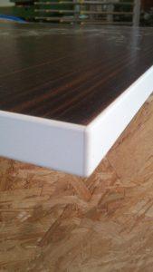 Anetsberger GmbH Schreinerei – Holzhandel - Anwendung des Eckenrunder MZ 02 90F: Schnelles Kopieren der Ecken in sehr guter Qualität