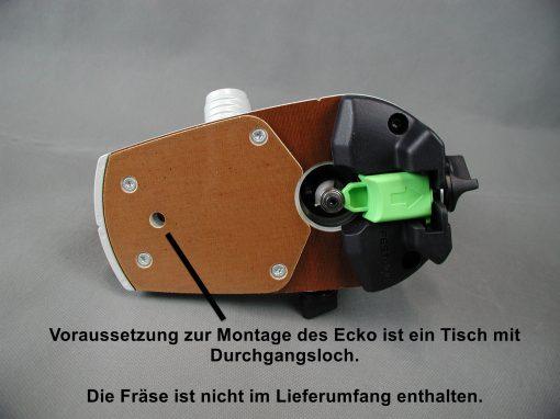 Es kann die Original-Gleitplatte verwendet werden.