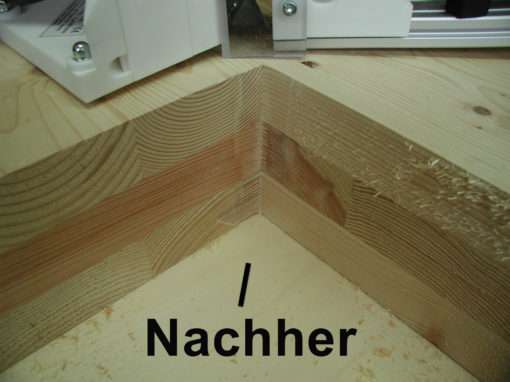 Brettsperrholz mit scharfkantiger Innenecke